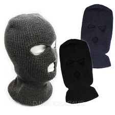 3 Hole Face Mask Winter Beanie Ski Snowboard Hat Cap Wear Stylish Balaclava