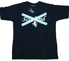 Scotland Navy Printed T Shirt with Lion Rampant Front Print