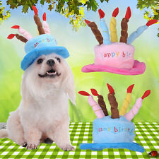 Cute Cat Dog Pet Happy Birthday Party Hat Cake Candles Cosplay Costume Headwear