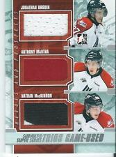 2012-13 ITG Heroes and Prospects MACKINNON DROUIN MANTHA Trios Game Used SST-05