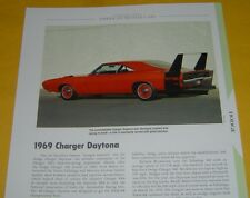 1969 Dodge Charger Daytona 440 ci or 426 ci Info/Specs/photo/production 11x8
