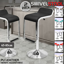 2x PU Leather Swivel Bar stool Kitchen Dining Chair Barstool Gas Lift