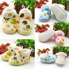 1Pair Baby Boy Boots Winter Infant Toddler Soft Sole Ankle Warm Shoes Pop Girls
