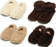 Intelex Cozy Microwavable Boots Heatable Slippers Soft Furry Plush Feet Warmers