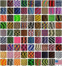 550 Paracord Parachute Cord Camo and Patterns 1000ft Spools USA Made
