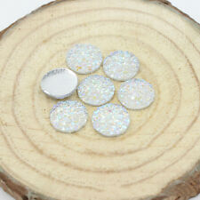 12mm Pop Resin Round Stone Beads Flatback Resin Rhinestone For DIY Crafts 20 Pcs