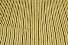 Green coloured stripe upholstery/curtain fabric offcuts for craft projects