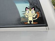 Meowth Sticker - Pokemon Meowth Vinyl Decal - Var. Sizes and Colors Style 1
