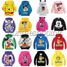 Kids Children Girl Boy Hoodie Sweatshirt Jumper Top Jacket Coat Pullover Outwear