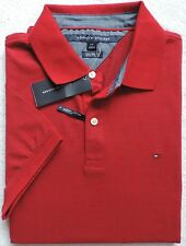 NWT Tommy Hilfiger Men's Custom Fit Short Sleeve Polo, Red, Size: L