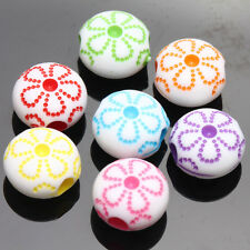 Hot! 20/40Pcs Mixed Acrylic Flower Loose Spacer Beads DIY Jewelry Making Craft