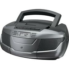 GPX BCA206S CD Boom Box with AM/FM Radio   Cassette Player