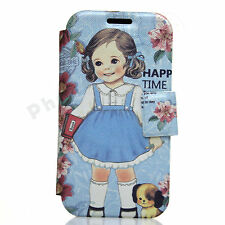 Lovely Campus Doll Leather Gel Rubber Case For Samsung Galaxy SIV S4 I9500