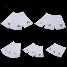 12pcs Women Cotton Handkerchief Ladies Embroidery Lace Hanky Kerchiefs Hankie