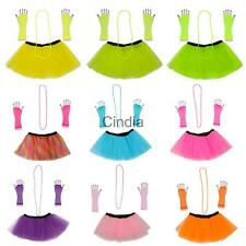 3pcs 1980s Adult Women Tutu Skirt Hen Party Fancy Dress Clubwear Party Costumes