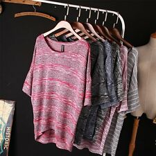 Fashion Women's Knitted Sweater Batwing Sleeve Jumper Knitwear Pullover Tops