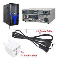 HOT BEST 1.2m EU 2-Prong Laptop Adapter Power Cord Cable Lead 2 Pin Lot