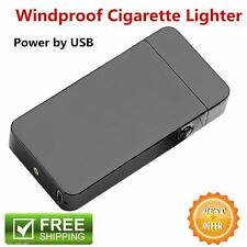 Windproof Electric Lighter Arc Metal Flameless Torch USB Rechargeble Lighter TG