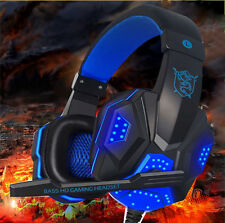 New LSNB Stereo Gaming Headset Headband Headphone with Mic For PC Computer Phone