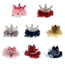 Phenovo Baby Girl Hair Clips Hairpin Pearl Crystal Crown Flower Hair Accessories