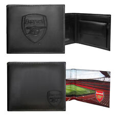 Arsenal Football Club Official Soccer Gift Embossed Crest Wallet Black