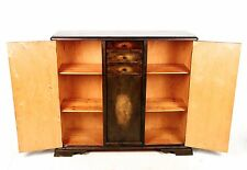 Antique Sideboard French Walnut Highboard Credenza Bookcase Fine Quality