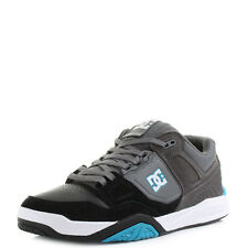 Mens DC Stag 2 Black Grey Blue Skate Trainers Shoes Shu Size
