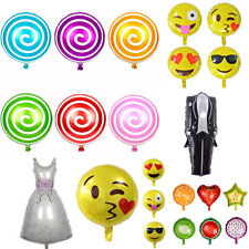Creative Cute Aluminum Foil Fruit Candy Smiling Face Wedding Party Balloon Decor