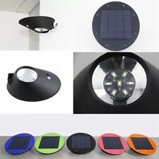 Outdoor Solar Power 7-LED Wall Mount Garden Path Landscape Fence Yard Lamp Light