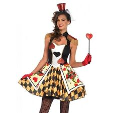 Queen Of Hearts Fancy Dress Alice In Wonderland Halloween Party Costume Outfit