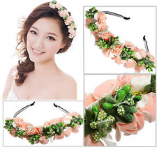 Flower Garland Floral Bride Headband Hairband Wedding Party Prom Festival