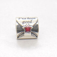 Authentic Genuine Sterling Silver Letter to Santa Red Enamel Charm