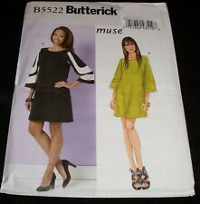 Butterick 5522 Muse Close-Fitting A-Line Pullover Knit Dress Mod Clubbing Sewing