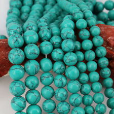 """Lot 15"""" Strands Turquoise Round Loose Spacer Beads Jewelry Making 6/8/10/12mm"""