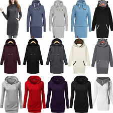Womens Hoodies Sweater Sweatshirt Long Sleeve Jumper Tops Bodycon Dress Outwear