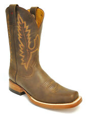 Gavel Mens Stockman Square Toe Genuine Leather Handmade Cowboy Western Boots