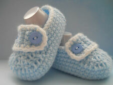 Handmade Crochet / Knit Baby Boys Loafer Style Shoes / Booties