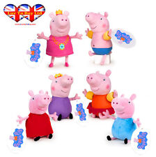 Peppa Pig Assorted Plush To 6 Characters,Original:Daddy,Mummy,Peppa &George Pig