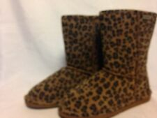 Bearpaw Emma Short Boot 8 Leopard Print Brown  New w/out Box