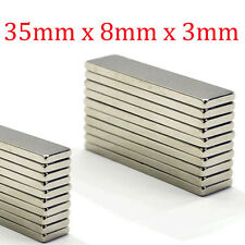 Strong Bar Block Rare Earth Neodymium Magnets 35mm x 8mm x 3mm N50 Grade