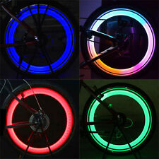 Bike Bicycle Cycling Car Wheel Tire Tyre Colorful Safety LED Spoke Lights Lamp