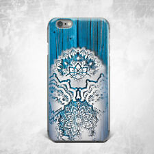 Mandala Floral Wood Design Silicone TPU Rubber Case Cover Skin Back iPhone Plus