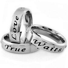 Stainless Steel TRUE LOVE WAITS Promise Purity Love All Sizes 5-13 Size 6 Ring