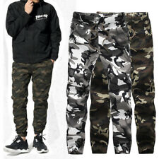 Fashion Mens Military Camouflage Stylish Camo Cargo Pant Joggers Pants Trousers