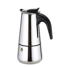 Cups Stainless Steel Moka Espre sso Latte Percolator Stove Top Coffee Maker Pot