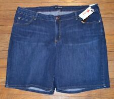 Lee Modern Series Bella Bermuda Denim Jean Shorts Midrise Fit Size 24W M