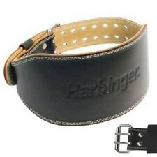 """New Harbinger 6"""" Padded Leather Weight Lifting Belt Style 285"""
