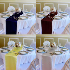 30x275cm Satin Table Runner Wedding Reception Party Banquet Decoration 12x108""