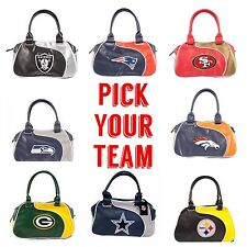 NFL Team Perfect Bowler Purse Hand Bag