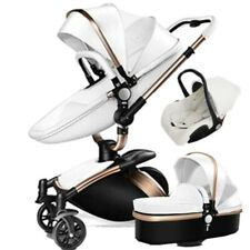 Baby Stroller Hot Mom 3 in 1 high view travel system Bassinet Combo PU Pushchair